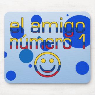 El Amigo Número 1 in Colombian Flag Colors 4 Boys Mouse Pad