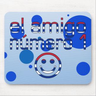 El Amigo Número 1 in Cuban Flag Colors for Boys Mouse Pad