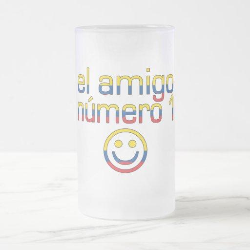 El Amigo Número 1 in Ecuadorian Flag Colors 4 Boys 16 Oz Frosted Glass Beer Mug