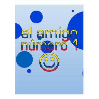 El Amigo Número 1 in Ecuadorian Flag Colors 4 Boys Postcard
