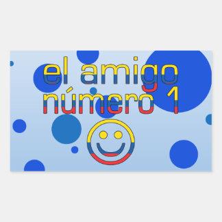 El Amigo Número 1 in Ecuadorian Flag Colors 4 Boys Rectangular Sticker