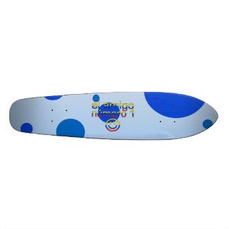 El Amigo Número 1 in Ecuadorian Flag Colors 4 Boys Skateboard Deck