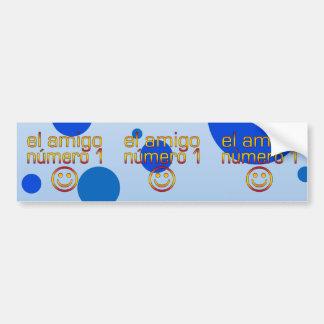 El Amigo Número 1 in Spanish Flag Colors for Boys Bumper Sticker