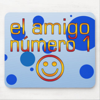 El Amigo Número 1 in Spanish Flag Colors for Boys Mouse Pad