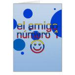 El Amigo Número 1 in Venezuelan Flag Colors 4 Boys Greeting Card
