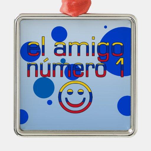El Amigo Número 1 in Venezuelan Flag Colors 4 Boys Christmas Ornament
