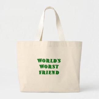 El amigo peor de los mundos bolsas lienzo
