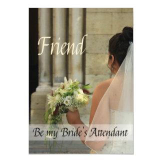 El amigo sea por favor el asistente de la novia - invitaciones magnéticas