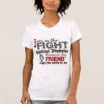 El amigo significa el mundo a mí diabetes camiseta