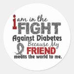 El amigo significa el mundo a mí diabetes etiquetas redondas