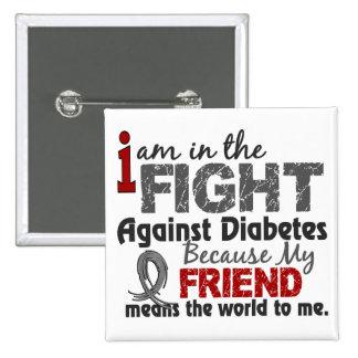 El amigo significa el mundo a mí diabetes pin cuadrado