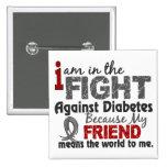 El amigo significa el mundo a mí diabetes pins