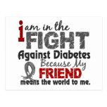El amigo significa el mundo a mí diabetes tarjetas postales