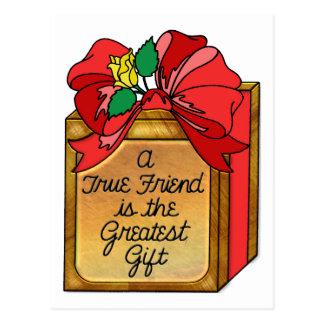 El amigo verdadero es el regalo más grande postal