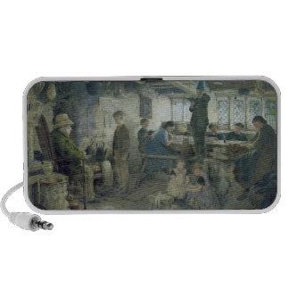 El amo estricto de la escuela, 1868 altavoz de viaje