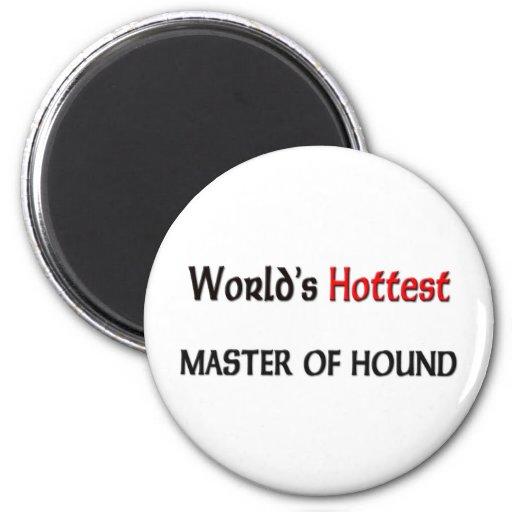 El amo más caliente de los mundos del perro imán redondo 5 cm