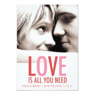 """El amor 311 es todo lo que usted necesita reserva invitación 5"""" x 7"""""""