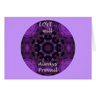 El amor A19 prevalecerá siempre la tarjeta 1