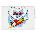 El amor Abuelo embroma el aeroplano Tarjeta De Felicitación