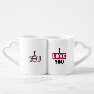 El amor adorable cita las tazas de los amantes taza para parejas