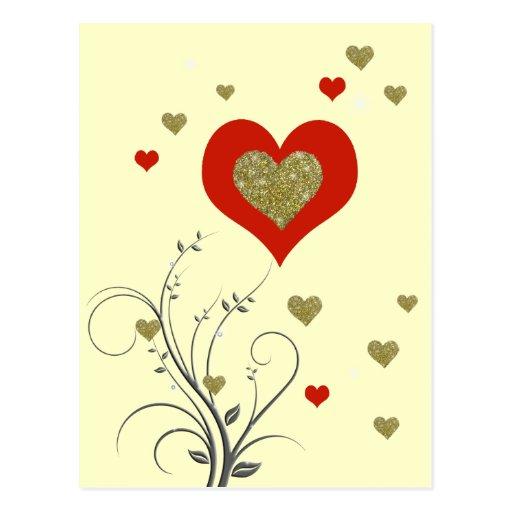 el amor adorna tarjetas postales