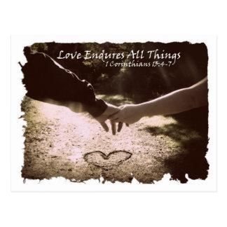 El amor aguanta tarjeta postal