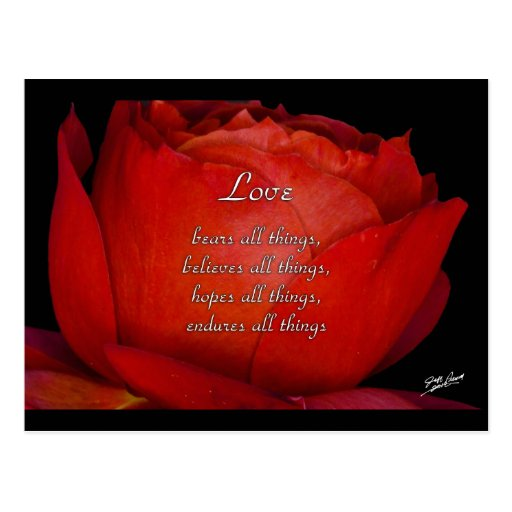 El amor aguanta tarjetas postales