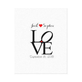 El amor alternativo del libro de visitas del boda impresión en lienzo