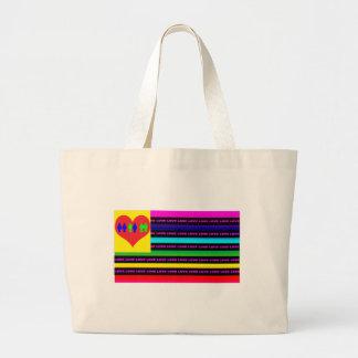 El amor, amor, amor es la respuesta bolsa tela grande