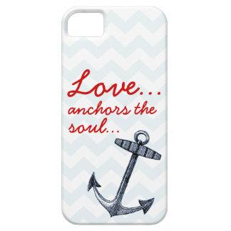 El amor ancla la caja de Iphone 5 del alma iPhone 5 Case-Mate Protector