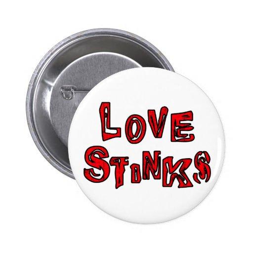 El amor apesta el botón pins