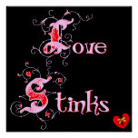 El amor apesta el lema del día de las Anti-Tarjeta Poster