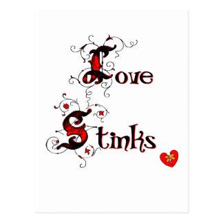 El amor apesta la postal que dice de las Anti-Tarj