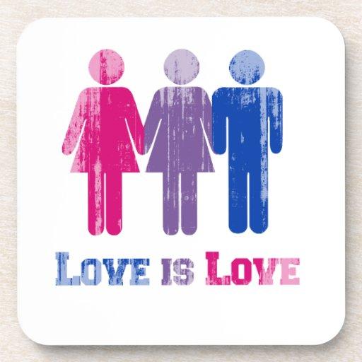 El amor bisexual es amor apenado posavasos