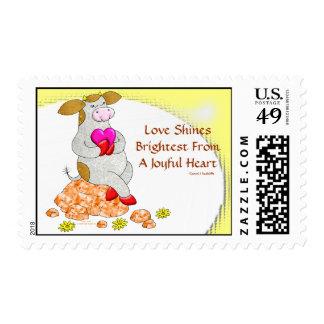 El amor brilla la más brillante de un corazón aleg