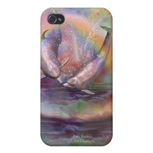 El amor burbujea caso del arte para el iPhone 4 iPhone 4 Cobertura