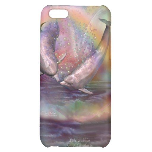El amor burbujea caso del arte para el iPhone 4