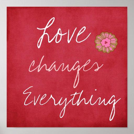 El amor cambia todo poster póster