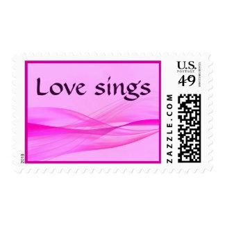 El amor canta el sello