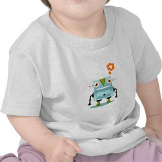 El amor caprichoso y artístico del robot embroma camisetas