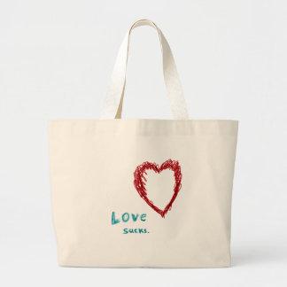 El amor chupa bolsa tela grande