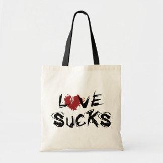 El amor chupa - el día de San Valentín anti Bolsa Tela Barata