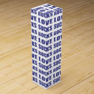El amor chupa rocas caja para botella de vino