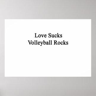 El amor chupa rocas del voleibol póster