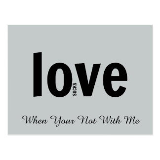El amor chupa sin usted las postales