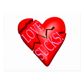 El amor chupa postal