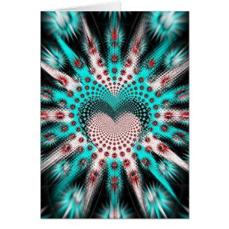 El amor clava la persona hipnotizada tarjeta pequeña