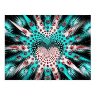 El amor clava la persona hipnotizada tarjeta postal