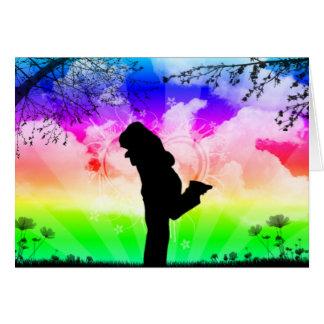 El amor colorea el Worl Tarjeta De Felicitación