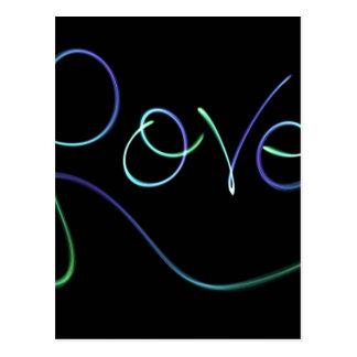 el amor colorea negro postales